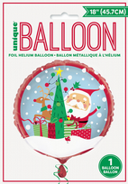 "Colourful Santa 18"" Foil Balloon (1)"